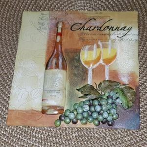 New Chardonnay 3D Resin Wine & Grapes Wall Decor